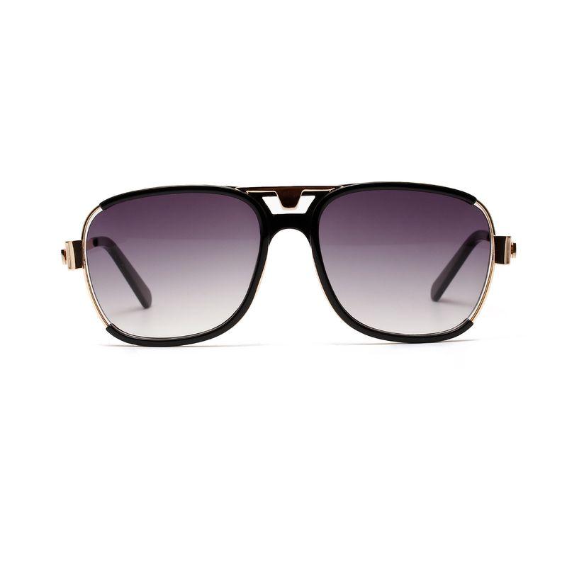 Korean fashion trend square retro double beam sunglasses new semi-metal sunglasses men's glasses wholesale nihaojewelry NHXU224833