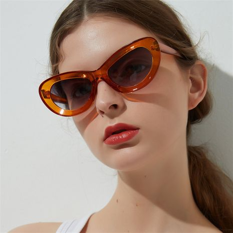 Candy Color Cat Eye Explosion Sunglasses Big Frame Sunglasses Male Retro Glasses wholesale nihaojewelry NHXU224854's discount tags