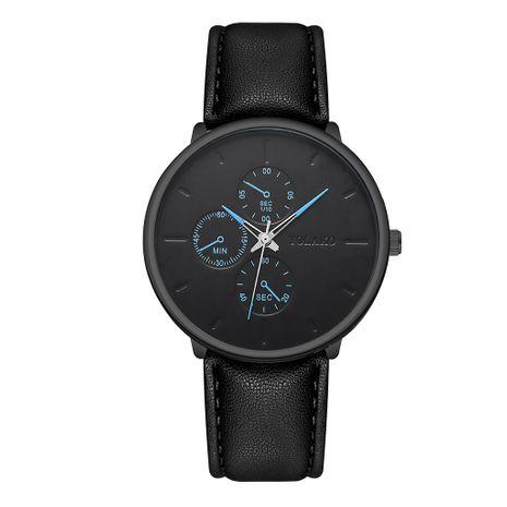 Reloj de correa ultrafino para hombre de estilo británico, reloj de correa casual de cuarzo de tres ojos falso para hombre, nihaojewelry al por mayor NHSY224891's discount tags