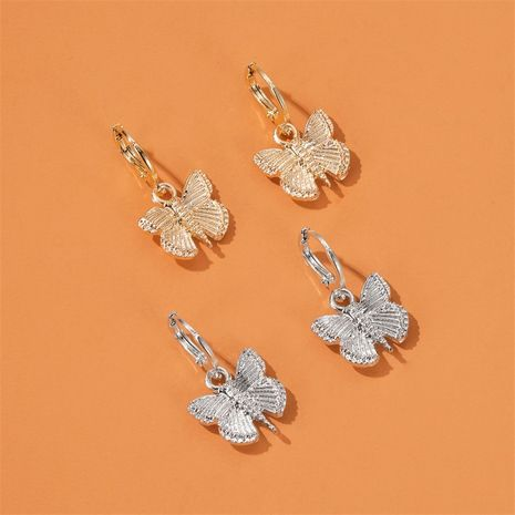 Vintage butterfly earrings high cold alloy insect earrings for women nihaojewelry wholesale NHDP213676's discount tags