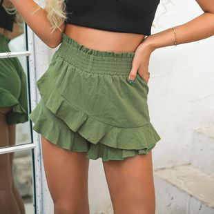 women's clothes Ruffled high waist sexy shorts NHDE226147's discount tags