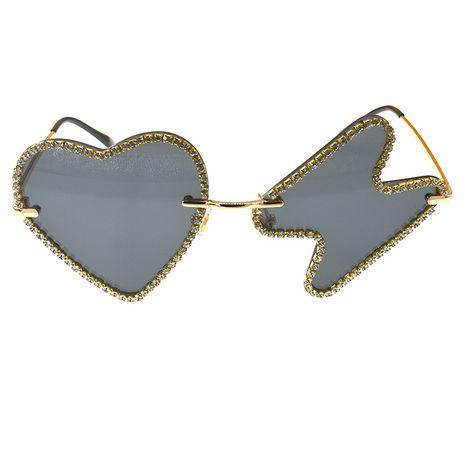 Bungee Artifact Bar Sunglasses Glowing Glasses Heart Diamond Nightclub Love Sunglasses wholesale nihaojewelry NHNT224909's discount tags