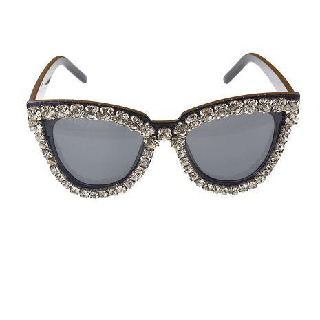 nouvelles lunettes de soleil marée anti-UV rayonnement lunettes de soleil strass personnalité grand cadre lunettes de soleil en gros nihaojewelry NHNT224911's discount tags