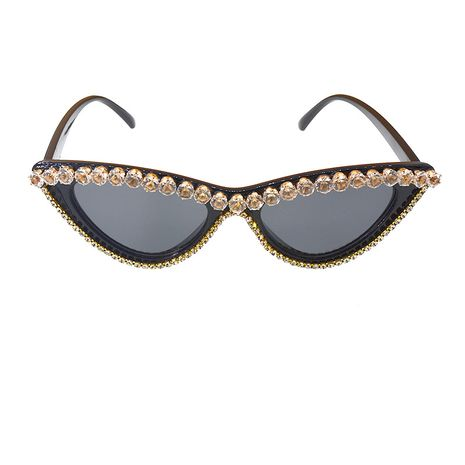 Korean fashion rhinestone sunglasses UV protection Shijia crystal ladies sunglasses with diamond cat eye glasses wholesale nihaojewelry NHNT224913's discount tags