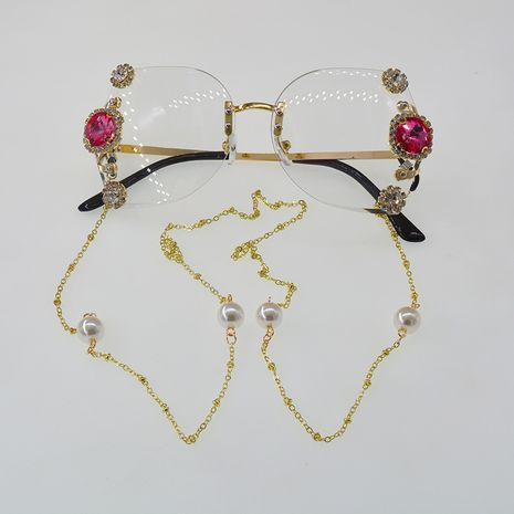 Lunettes de soleil en diamant sans cadre Gradient Lentilles Protection UV Lunettes de soleil Mode en gros Nihaojewelry NHNT224917's discount tags