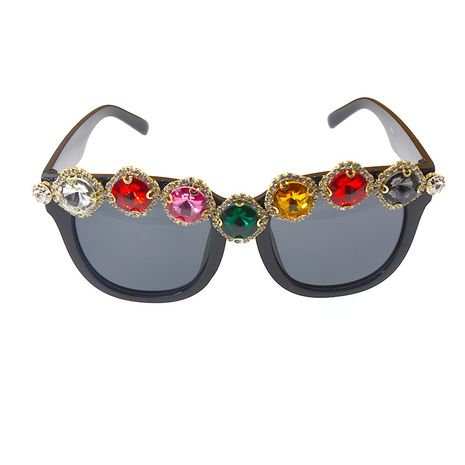 nouveau exagéré grand-nom charmant strass lunettes de soleil oeil de chat à la main strass grand cadre lunettes de soleil en gros nihaojewelry NHNT224918's discount tags