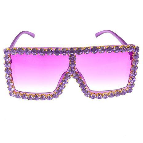 lunettes de soleil mode coréenne marée diamant lunettes de soleil carrées lunettes de soleil anti-ultraviolets en gros nihaojewelry NHNT224919's discount tags