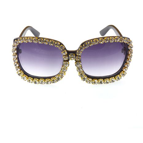 exaggerated modern retro charming elegant cat eyes diamond sunglasses stage crystal sunglasses wholesale nihaojewelry NHNT224920's discount tags