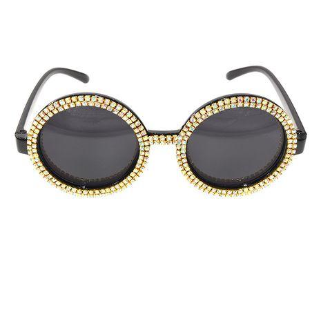 Nouvelle mode personnalisé lunettes de soleil en diamant lunettes de soleil coupe-vent femmes en gros nihaojewelry NHNT224927's discount tags