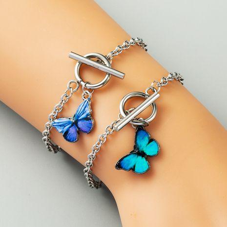 Korea blue butterfly bracelet girlfriends couple bracelet niche butterfly design ladies bracelet NHLN224968's discount tags