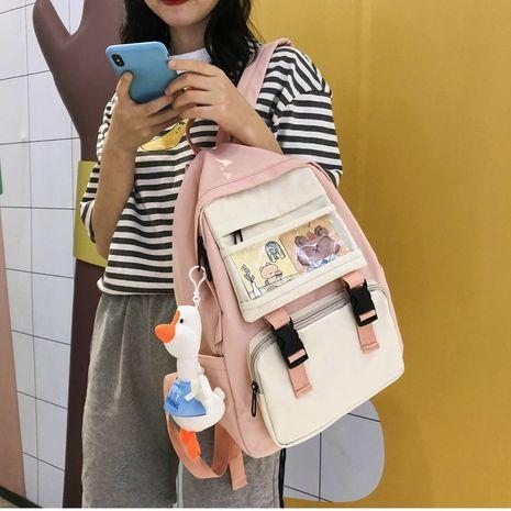 Korean vintage sense girl soft sister cute cartoon transparent bear card student schoolbag backpack tide wholesale nihaojewelry NHHX225026's discount tags
