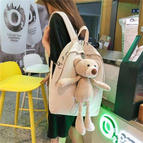new Korean cute plush bear doll backpack Harajuku vintage sense student bag wholesale nihaojewelry NHHX225037's discount tags