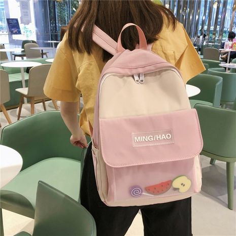 Korean college style creative funny transparent fruit backpack casual schoolbag wholesale nihaojewelry NHHX225038's discount tags