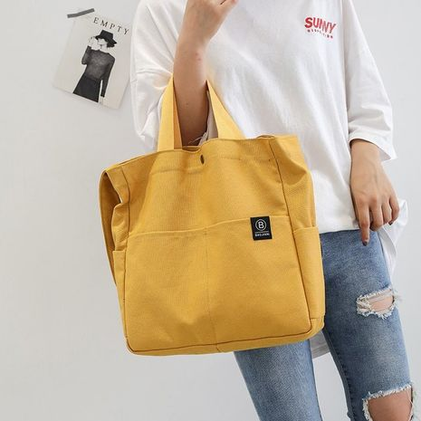 Korea tote bag student canvas shoulder bag wild Messenger bag wholesale nihaojewelry NHHX225044's discount tags