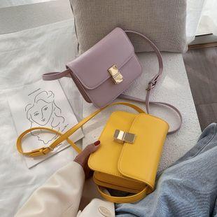nouvel été rétro niche mode texture sac à bandoulière sauvage solide couleur flip bandoulière petit sac carré en gros nihaojewelry NHPB225050's discount tags