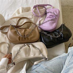 nouveau mode d'été plier chaîne nuage sac sauvage couleur unie épaule bandoulière aisselle sac en gros nihaojewelry NHPB225063's discount tags