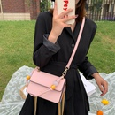 Textured popular bag new tide fashion mobile phone small square bag wild beaded hand strap crossbody bag wholesale nihaojewelry NHJZ225073