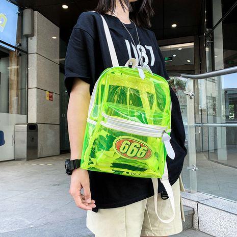 PVC transparente mochila verano nueva bolsa de plástico impermeable jalea pequeña mochila venta al por mayor nihaojewelry NHGA225091's discount tags