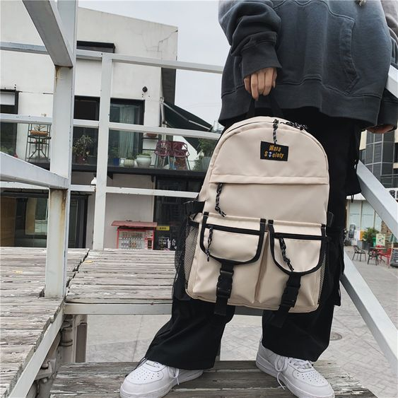 Oarencol Vintage Koi Fish Sakura Flower Backpack School Book Bag Travel Hiking Camping Laptop Daypack