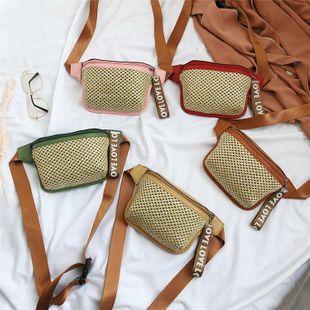 Sac de ceinture d'été nouveau sac de mode sac de paille impression décontractée sac à bandoulière messenger sac de poitrine tissé en gros nihaojewelry NHGA225113's discount tags