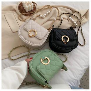 Sac de selle d'été texture petit sac nouvelle tendance sac épaule messager chaîne sac en gros nihaojewelry NHGA225127's discount tags