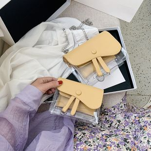 Été transparent petit sac été nouveau PVC sac mode épaule messenger sac plage petit sac carré en gros nihaojewelry NHGA225130's discount tags