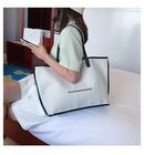 Largecapacity bag womens bag summer new wave simple wild handbag shoulder bag casual canvas tote bag wholesale nihaojewelry NHTC225159