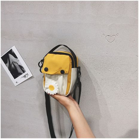 Bag new canvas shoulder bag cute girl Korean mobile phone small square bag wild messenger bag wholesale nihaojewelry NHTC225172's discount tags