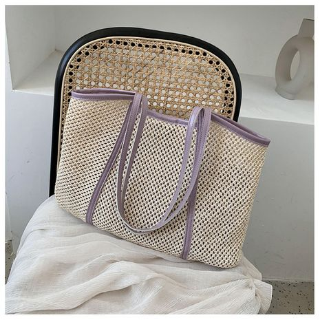 Summer small handbag new messenger bag woven straw beach bag wholesale nihaojewelry NHTC225176's discount tags