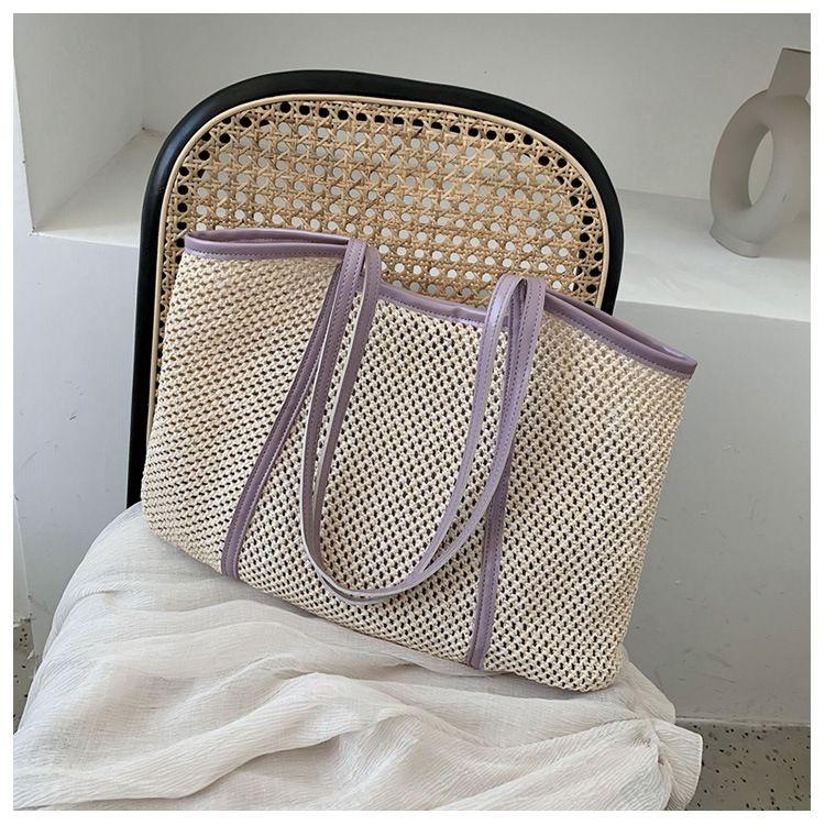 Summer small handbag new messenger bag woven straw beach bag wholesale nihaojewelry NHTC225176