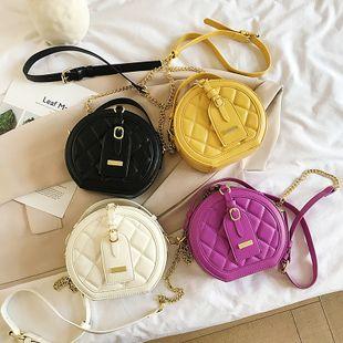 nouvel été mode coréenne sauvage rhombique broderie fil chaîne sac à main épaule bandoulière petit sac rond en gros nihaojewelry NHPB225233's discount tags