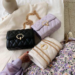 nouveau mode d'été petit parfum vent diamant chaîne sac à bandoulière sauvage texture messager petit sac carré en gros nihaojewelry NHPB225238's discount tags