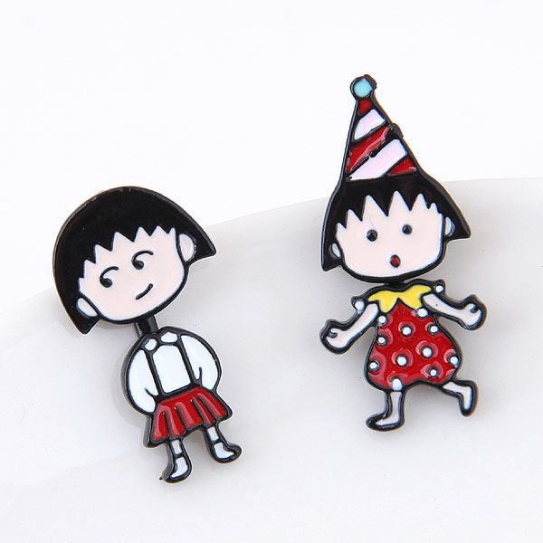 Boutique Korean fashion sweet OL cartoon girl cute personality earrings wholesale nihaojewelry NHSC225565