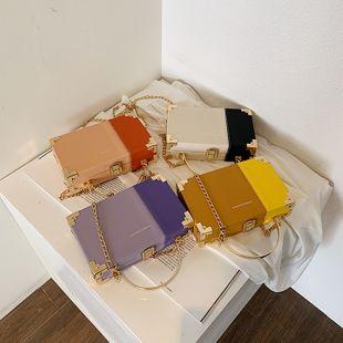 nouvel été coréen mode une épaule messenger sac simple sauvage hit couleur portable boîte sac en gros nihaojewelry NHPB225279's discount tags
