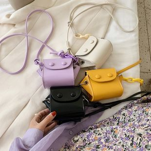 new Korean simple solid color mini coin purse tide summer fashion shoulder messenger bag wholesale nihaojewelry NHPB225285's discount tags