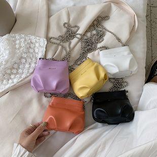Été nouvelle mode coréenne plier chaîne sac à bandoulière solide couleur mini messager seau sac en gros nihaojewelry NHPB225286's discount tags
