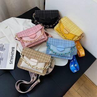 nouvel été chaîne sauvage sac à main marée tissé à la main couture verrouillage large épaule sac de messager en gros nihaojewelry NHPB225288's discount tags