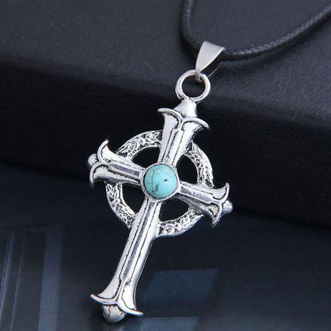 nouveau mode hommes dominateur rétro croix personnalité collier en gros nihaojewelry NHSC225559's discount tags