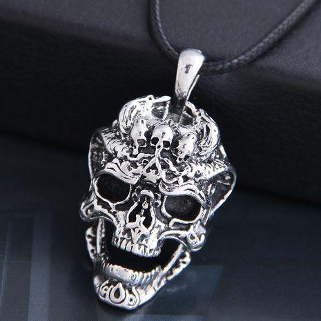 nouveau mode hommes dominateur rétro crâne personnalité collier en gros nihaojewelry NHSC225555's discount tags