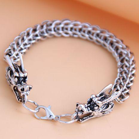 new fashion metal simple auspicious dragon temperament men's bracelet wholesale nihaojewelry NHSC225551's discount tags