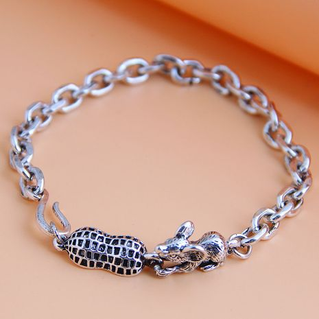 new fashion metal simple and cute mouse temperament men's bracelet wholesale nihaojewelry NHSC225549's discount tags