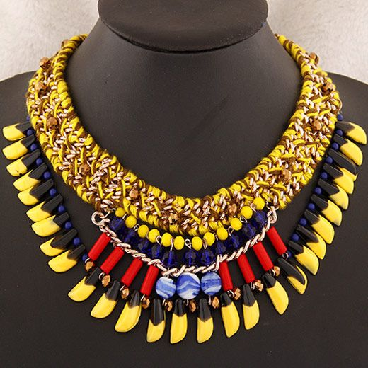 new trend wild bohemian style collar necklace wholesale nihaojewelry NHSC225547