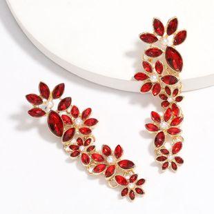 multi-layer rhinestones and diamonds full diamond flower earrings retro elegant ear jewelry wholesale nihaojewelry NHJE225292's discount tags