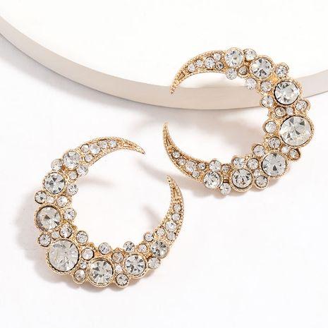 Creative lune ménisque strass diamant boucles d'oreilles marée rétro en gros nihaojewelry NHJE225294's discount tags