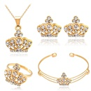 Luxury jewelry set style exquisite fourpiece crown type jewelry hot sale wholesale nihaojewelry NHDR225307