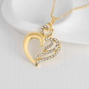 Bohemian Jewelry Love Alloy Diamond Necklace Earrings Ring Bracelet Fourpiece Set Available from Stock wholesale nihaojewelry NHDR225308