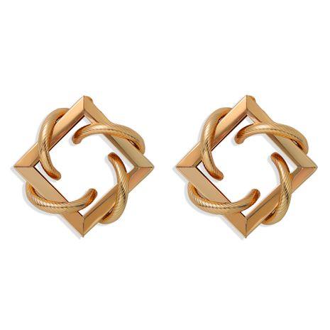 boucles d'oreilles géométriques minimalistes boucles d'oreilles en diamant simples boucles d'oreilles carrées en gros nihaojewelry NHJQ225325's discount tags