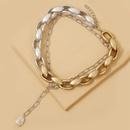alliage de mode collier de perles pendentif deux pices chane de clavicule vente chaude en gros nihaojewelry NHJJ225337