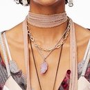 hot sale new necklace jewelry retro wild multilayer acrylic earring necklace twopiece set wholesale nihaojewelry  NHJJ225343