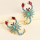 nouveau style grandes boucles d39oreilles dames cristal diamant scorpion boucles d39oreilles bijoux  la mode hypoallergnique en gros nihaojewelry NHJJ225352